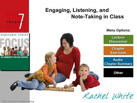 Engaging, Listening, and Note-Taking in Class