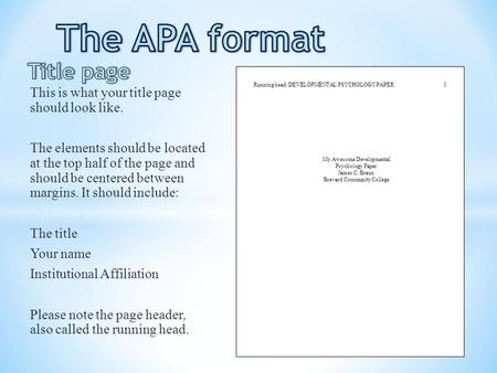 How long should a apa style short essay be