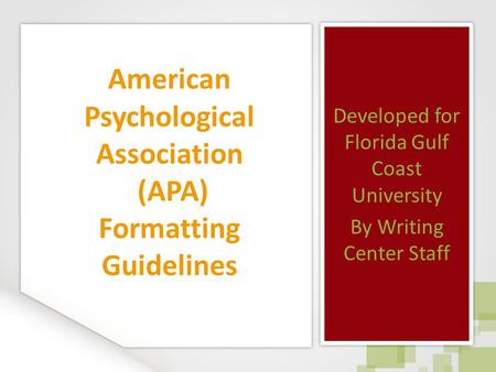 academic writing and american psychological association The compleat academic: a career guide washington, dc: american  psychological association writing the empirical journal article daryl j bem  cornell.