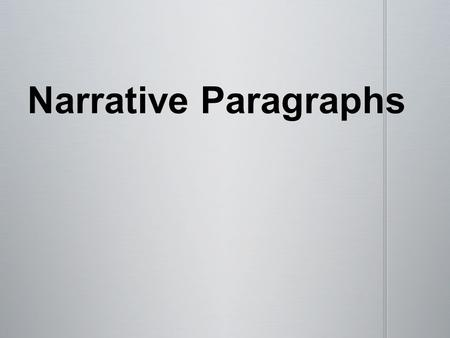 An important part of planning a paragraph is knowing your _____________ for writing. An important part of planning a paragraph is knowing your _____________.