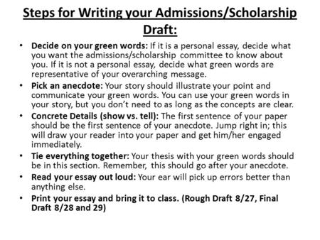 Write my how to write personal essay for scholarships