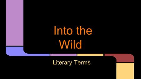 Into the Wild Literary Terms. A written account of somebody else's life. Biography.