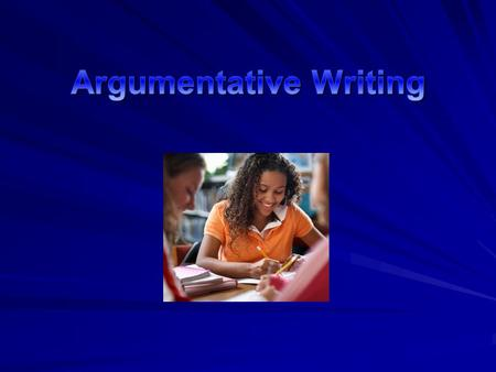 What is argumentative Writing? Argumentative writing is a genre of writing that uses reasoning and evidence, and not emotion, to take a stand on a controversial.