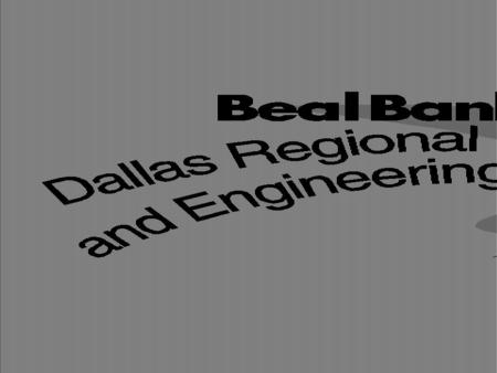 BEAL BANK DALLAS REGIONAL SCIENCE & ENGINEERING FAIR 53 rd YEAR JUDGING ORIENTATION WELCOME.