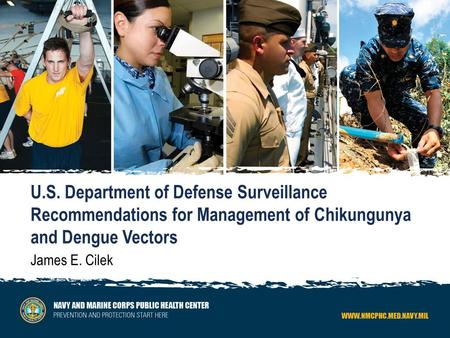 U.S. Department of Defense Surveillance Recommendations for Management of Chikungunya and Dengue Vectors James E. Cilek.