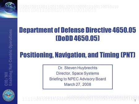 Department of Defense Directive (DoDD 4650