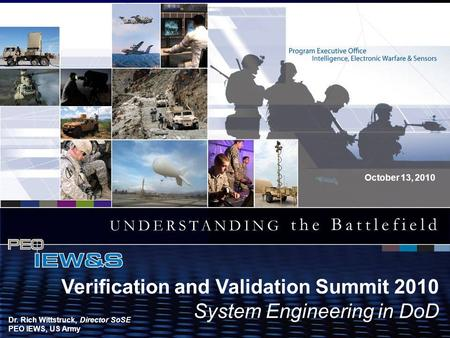 1 System Eng. in DoD 13 October 2010 WORKFORCE COMPOSITION CPR PEO IEW&S Organizational Assessment VCSA Brief Date 2010 This briefing is UNCLASSIFIED/FOUO.