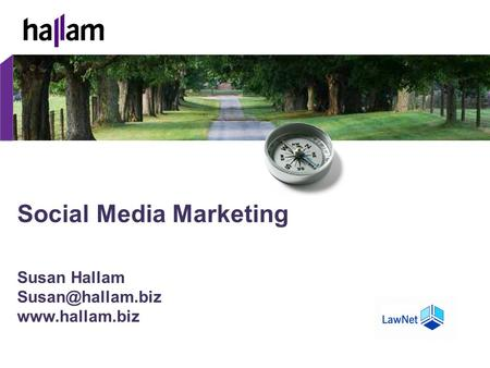 Social Media Marketing Susan Hallam