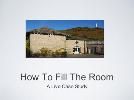 Text How To Fill The Room A Live Case Study. How Did You Get Here? LinkedIn? Facebook? Google? Twitter? Word Of Mouth? Newspaper?