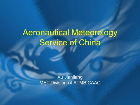 Aeronautical Meteorology Service of China