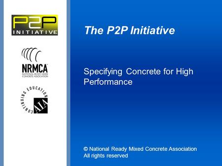 Specifying Concrete for High Performance