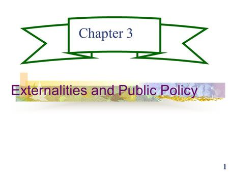 1 Chapter 3 Externalities and Public Policy. 2 Externalities Externalities are costs or benefits of market transactions not reflected in prices. Negative.