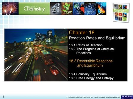 Chapter 18 Reaction Rates and Equilibrium 18.3 Reversible Reactions
