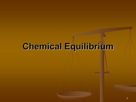 1 Chemical Equilibrium. 2 Equilibrium Initially all liquid Gas only, produced Balance of gas and liquid production.
