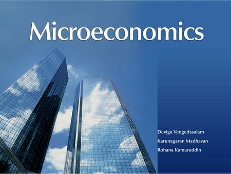 All Rights ReservedMicroeconomics © Oxford University Press Malaysia, 2008 3– 1.