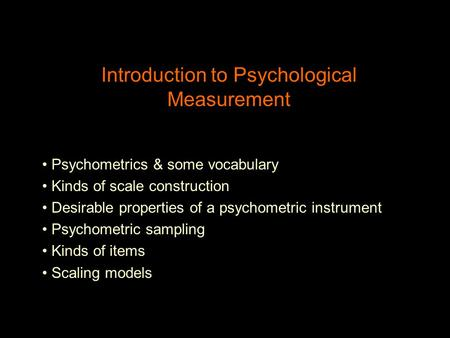 An introductio to psychological personality instruments