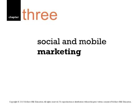 social and mobile marketing