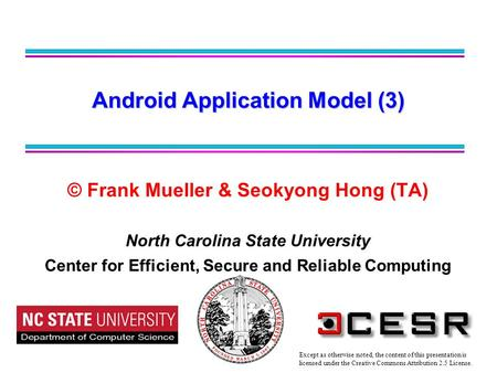 Android Application Model (3)