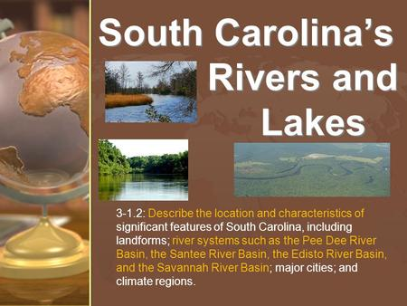 South Carolina's Rivers and Lakes