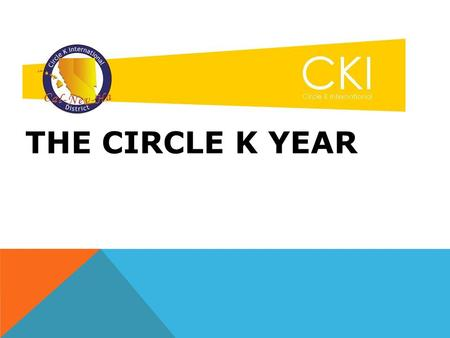THE CIRCLE K YEAR. APRIL THROUGH JUNE What's up at school What's up with family What's up with Circle K outside your club What club leadership needs to.