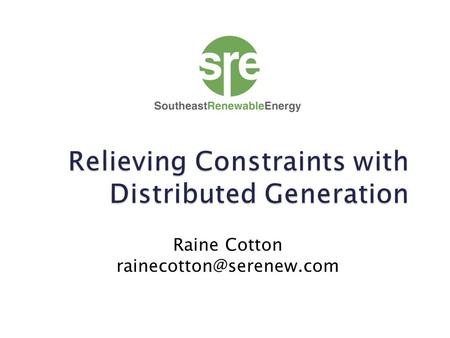 Raine Cotton  Registered DG settlement is in accordance with Protocol Section 6.6.3.2 as Real-Time Energy Imbalance at a Load.