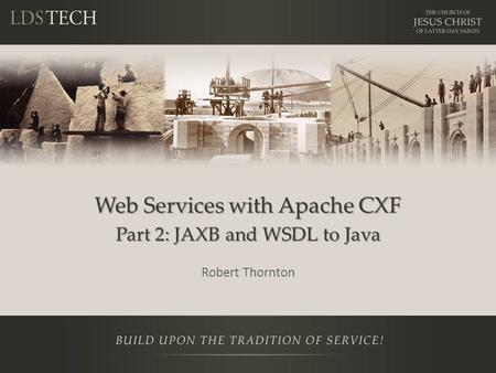 Web Services with Apache CXF