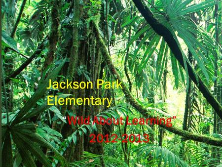 """Wild About Learning"" 2012-2013 Jackson Park Elementary."