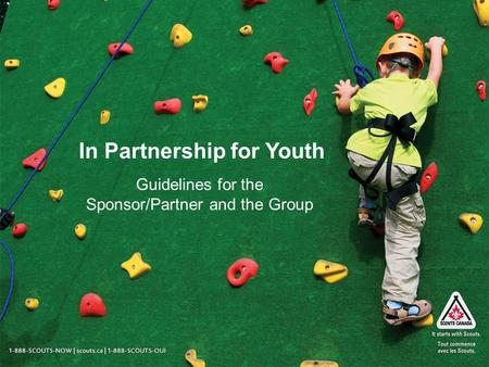 In Partnership for Youth Guidelines for the Sponsor/Partner and the Group.