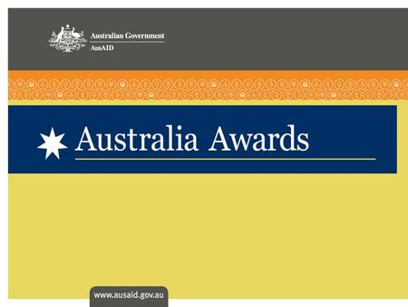 > Australia Awards aim to promote knowledge, education links and enduring ties between Australia and its neighbors through scholarship programs > brings.