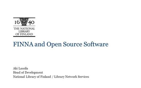 FINNA and Open Source Software