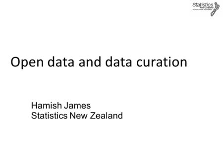 Open data and data curation