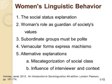 Women's Linguistic Behavior