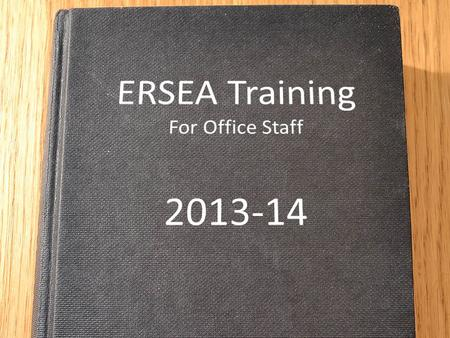 ERSEA Training For Office Staff
