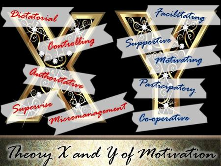 Theory X and Y of Motivation