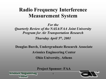 Radio Frequency Interference Measurement System