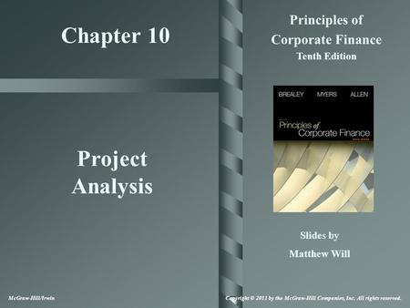 Chapter 10 Project Analysis
