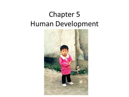 Chapter 5 Human Development. Human Development Index (UNDP) Mahbub ul Haq: Founder HD Report Geometric mean of 3 indices (Sen): – Life expectancy – Education.