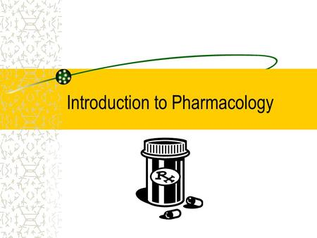 Introduction to Pharmacology. Overview Pharmaceutics Pharmacokinetics Pharmacodynamics.