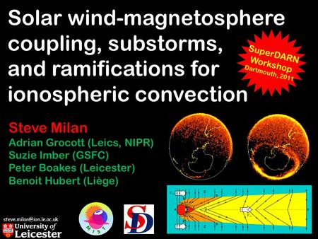 Solar wind-magnetosphere coupling, substorms, and ramifications for ionospheric convection Steve Milan Adrian Grocott (Leics,