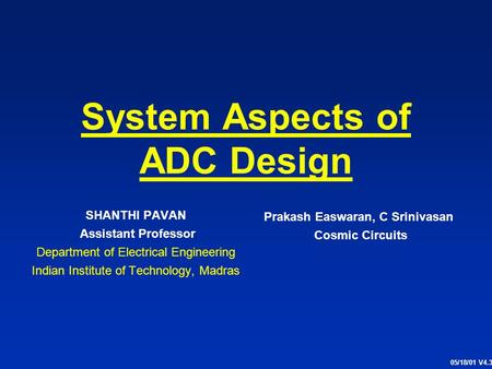 System Aspects of ADC Design