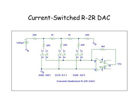 Current-Switched R-2R DAC. Voltage-Switched R-2R DAC.