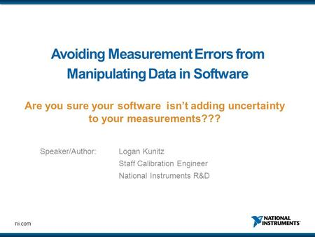 Avoiding Measurement Errors from Manipulating Data in Software