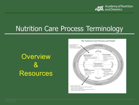 Nutrition Care Process Terminology