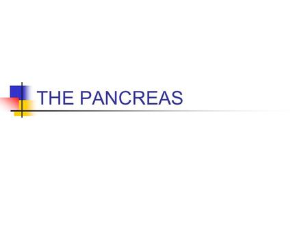 THE PANCREAS.