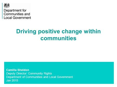 Driving positive change within communities