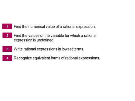 The Fundamental Property of Rational Expressions