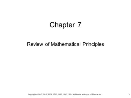 Review of Mathematical Principles