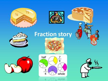 Fraction story. Learning intention: Fraction word problems Adding and simplifying fractions Fraction story word problem using voki 5- Use stories in maths.