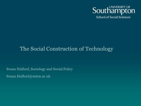 The Social Construction of Technology