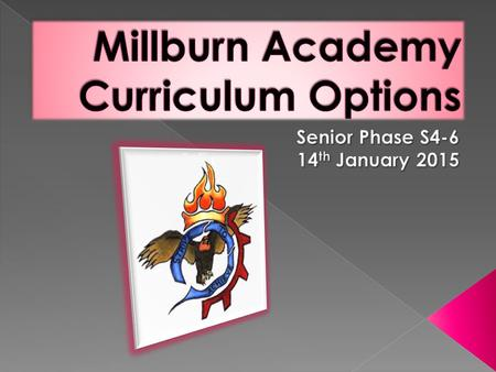 In Millburn Academy we aim to…  'develop skilful, resourceful, resilient, flexible and independent learners who are well prepared to contribute to 21.